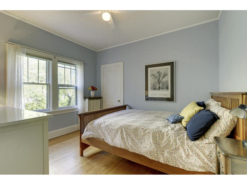 Master bedroom with north facing windows.