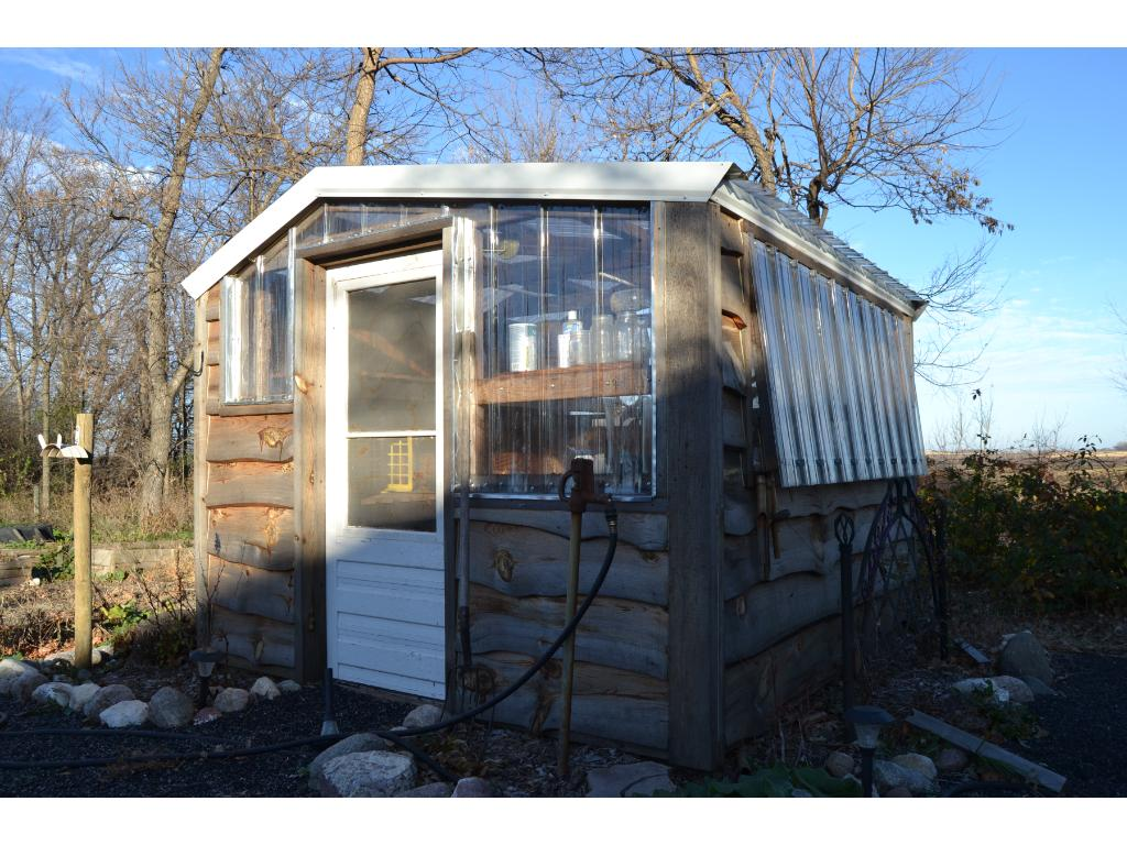 Garden Shed with Solar Roof.