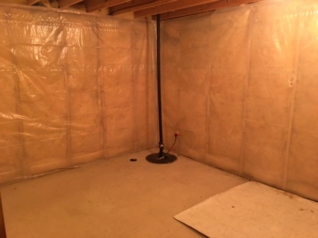 Large lower level storage room.