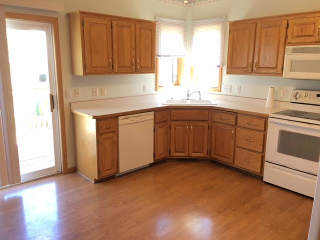 Big Kitchen with plenty of counter space and room for a table.