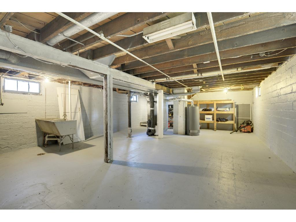 Clean and dry basement, great for storage!