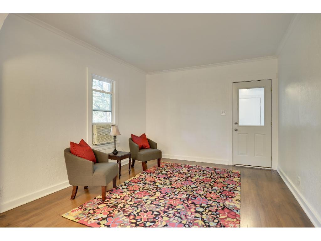 Walk into spacious living area...