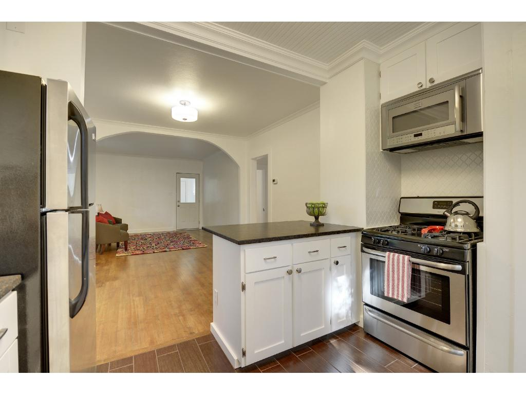 ...with granite, tile, and stainless steel appliances.
