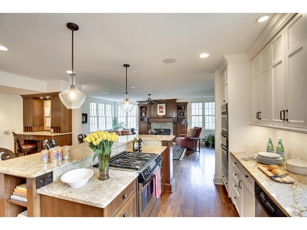 Large kitchen and family room is a great room that is the heart of the home.