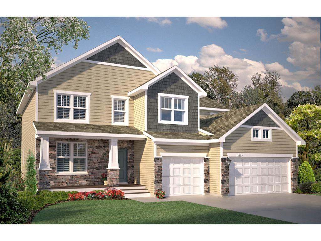 A rendering of the home (the actual home is under construction and will be completed by late November) shows some of the attention to detail displayed outside, including a spacious front porch to help welcome friends and family alike.