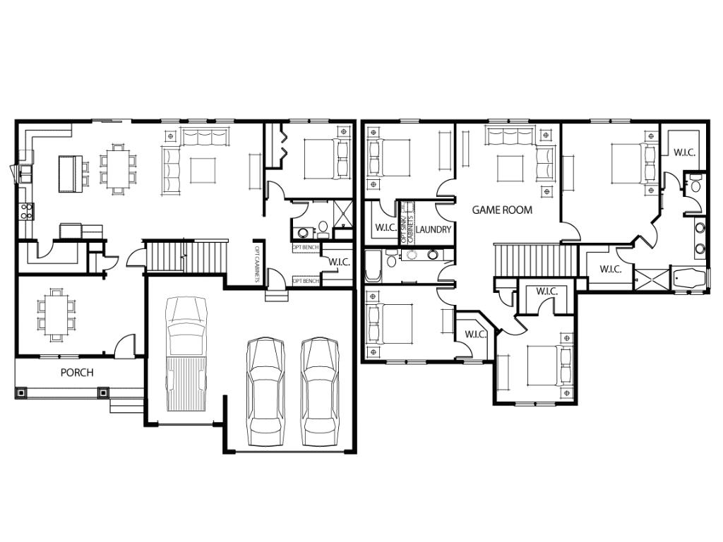 A sneak peak at the home's layout!