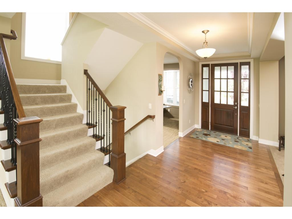The spacious foyer as you enter the home.