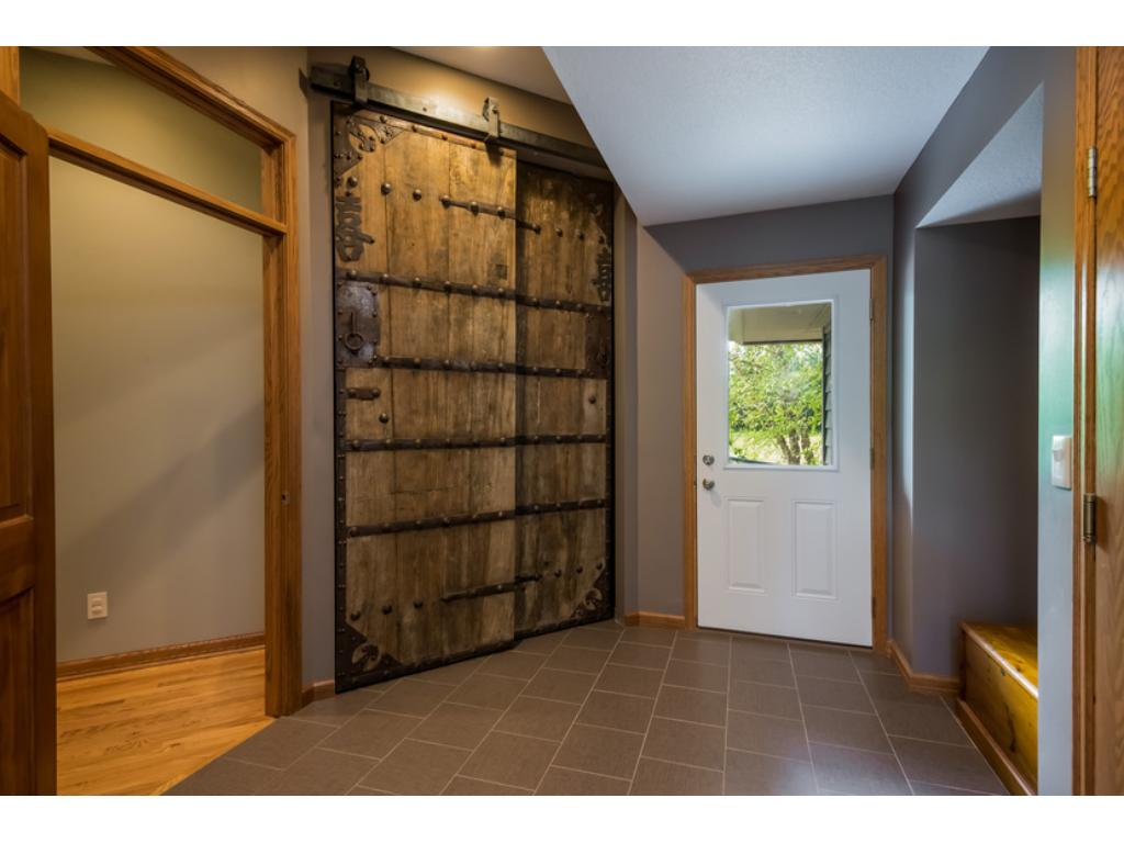Unique mudroom closet doors are anything but basic