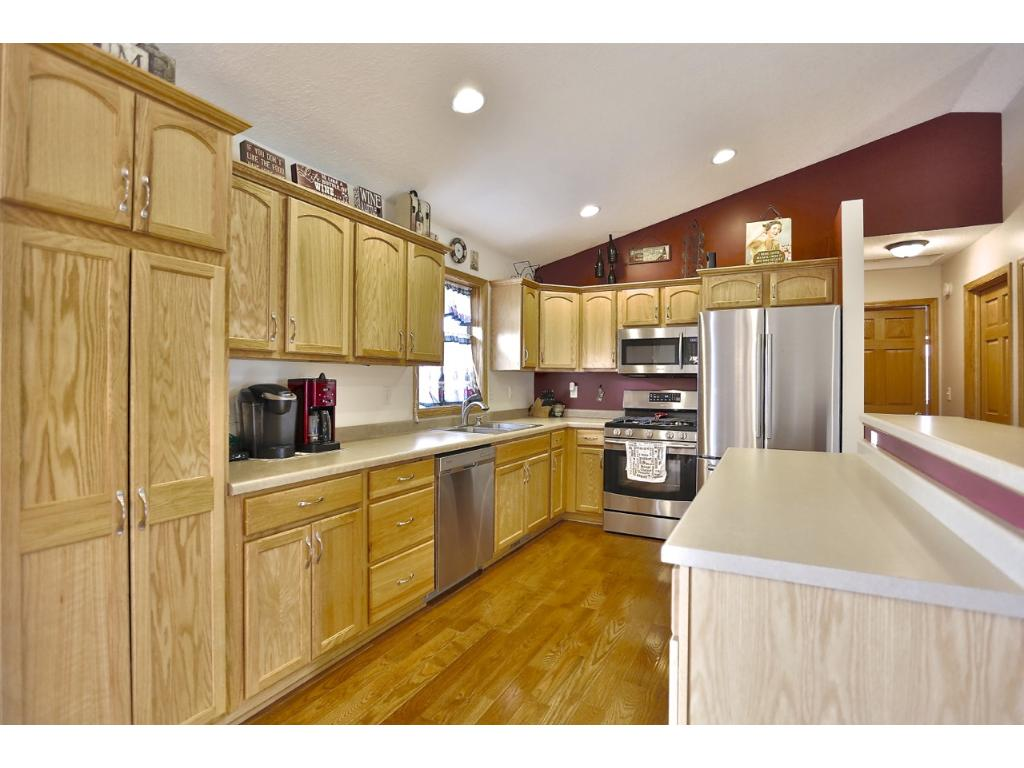 Lots of counter space and all newer stainless steel appliances.