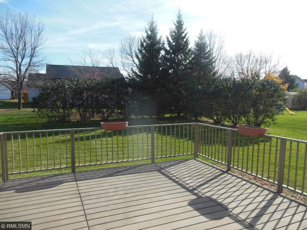 Flat yard with trees for privacy