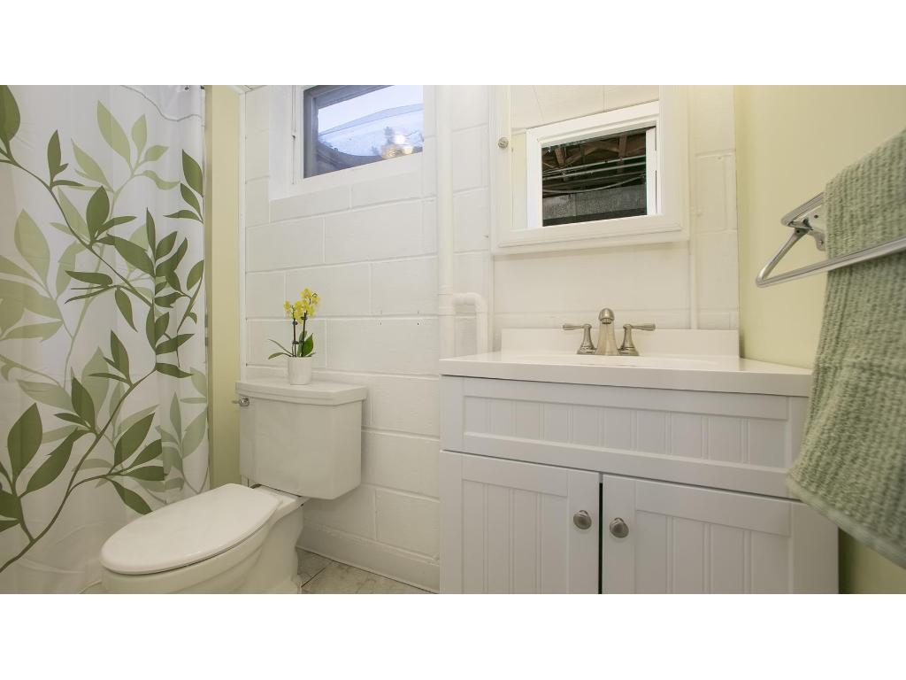 Lower level 3/4 bath. nice natural light