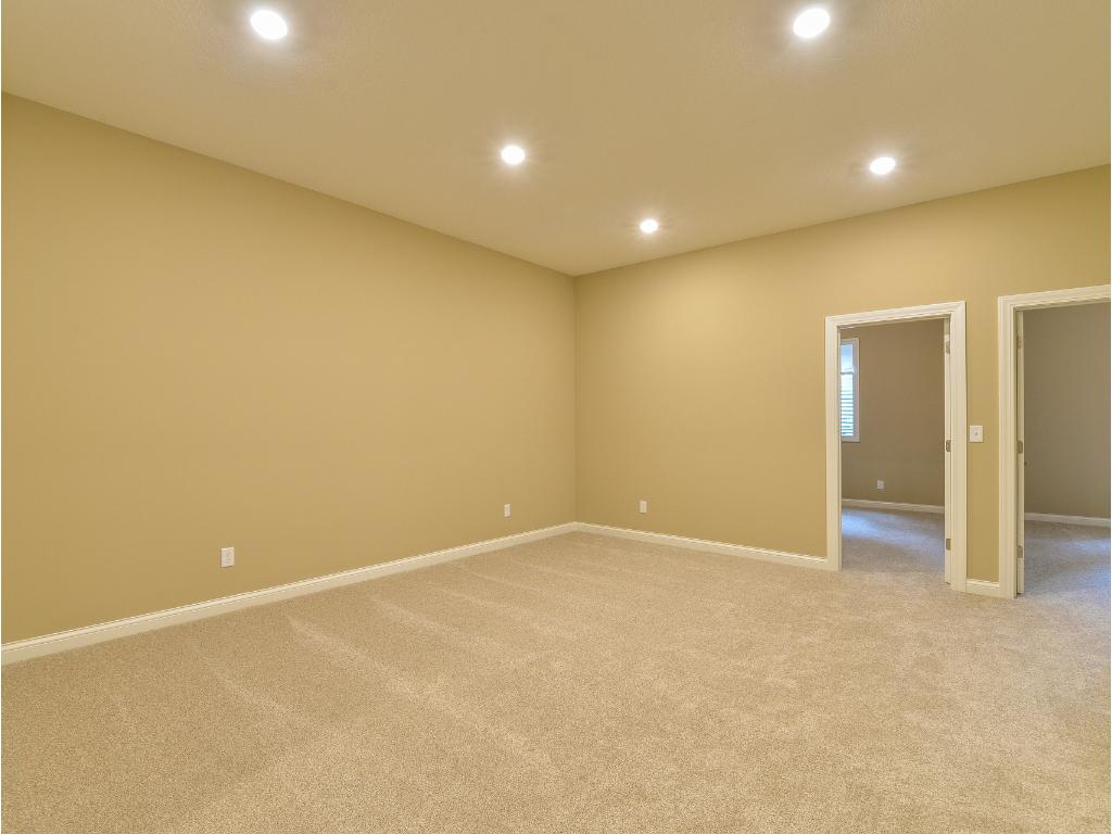 Lower Level Family Room - Note:  10' Ceiling height!