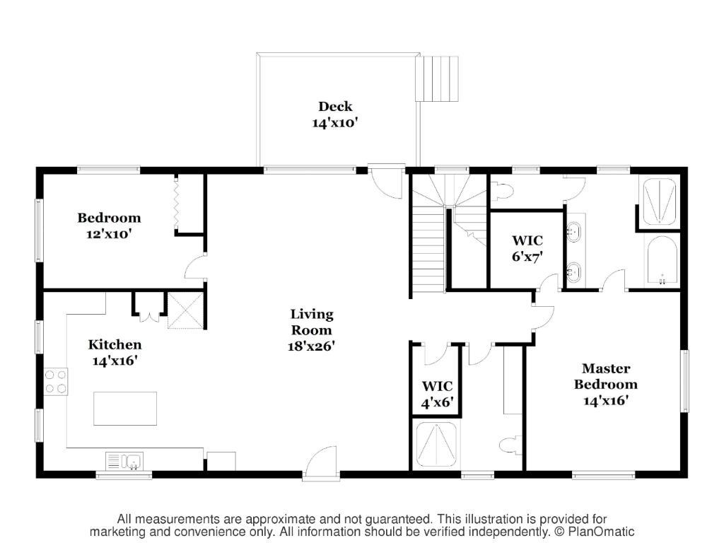 Main Level Floor plan - 9' Ceilings throughout!