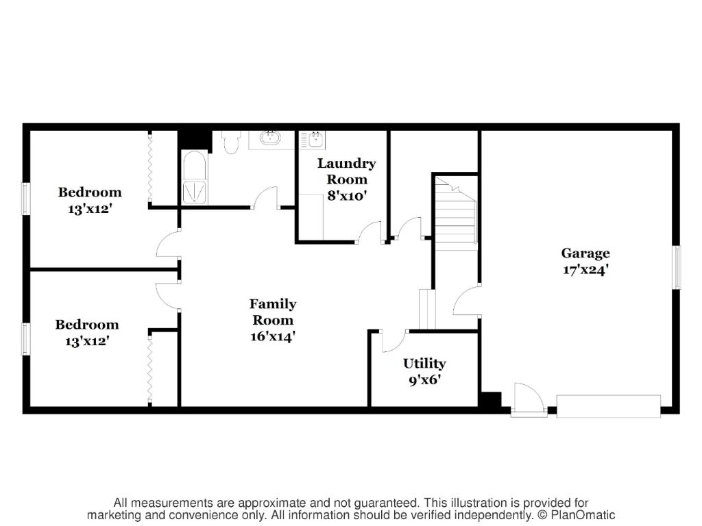 Lower Level Floor Plan - 10'Ceilings through-out! Note: Builder is installing custom 14' door for garage. Two Stall sized!