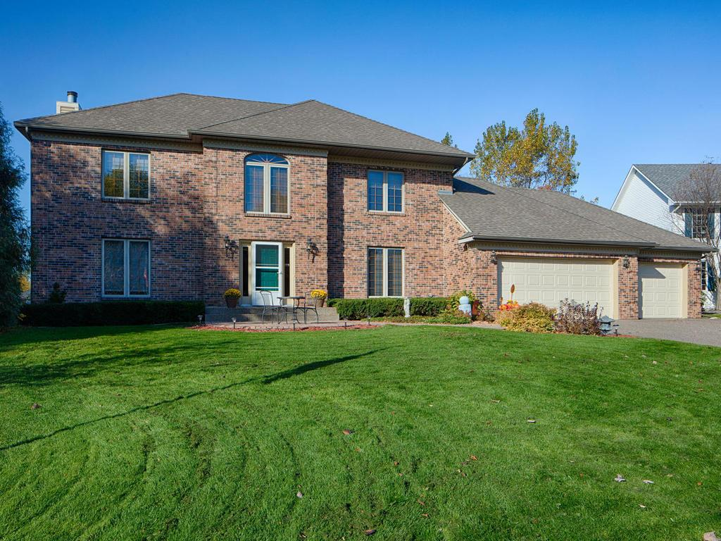 Stately brick two-story on a private, quiet cul-de-sac of upper bracket homes.  Wayzata schools!