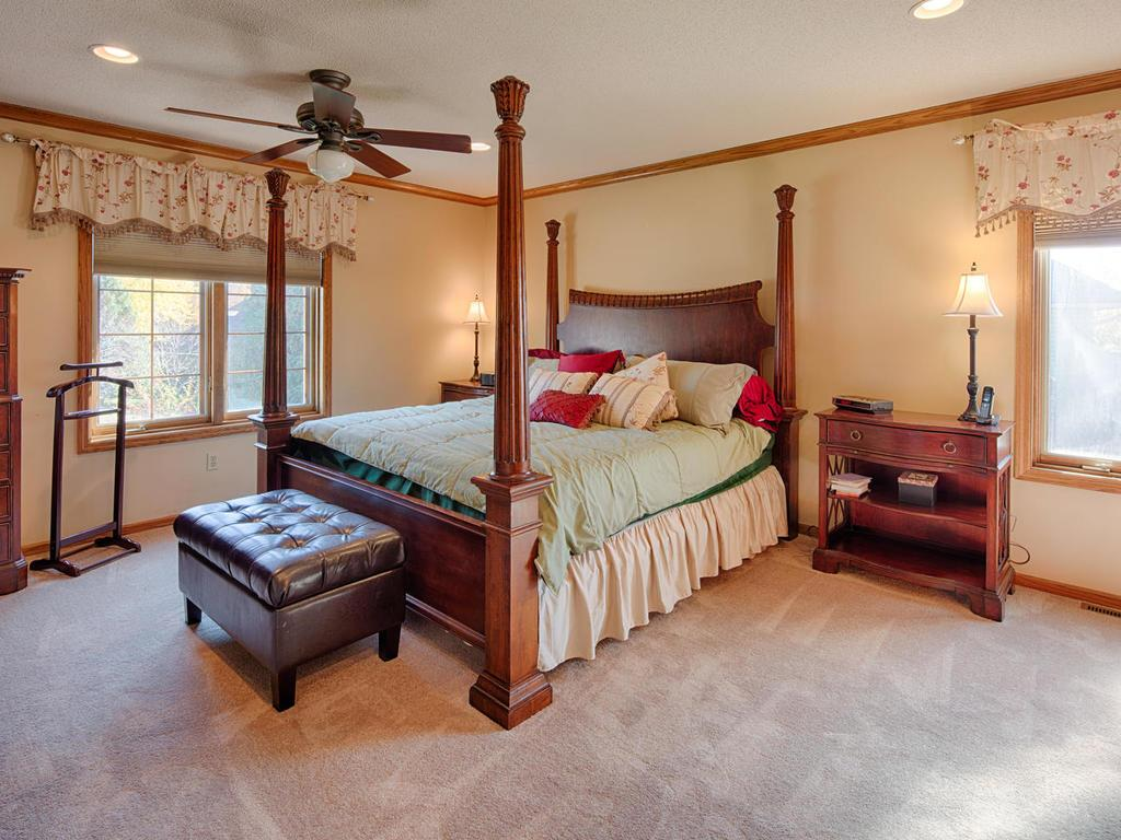 Large private master suite.  Spacious walk-in closet and en suite master bath.