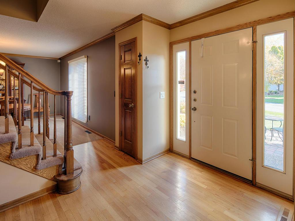 Entryway closet and light.