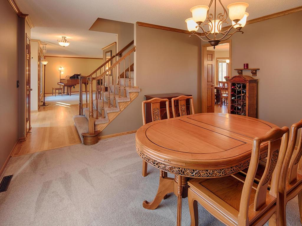 Huge formal dining room, plenty of space for big dinners needing table expansion!