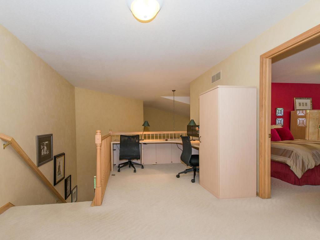 The Loft measures 16x12 and provides a great place to study or would make a great reading alcove!