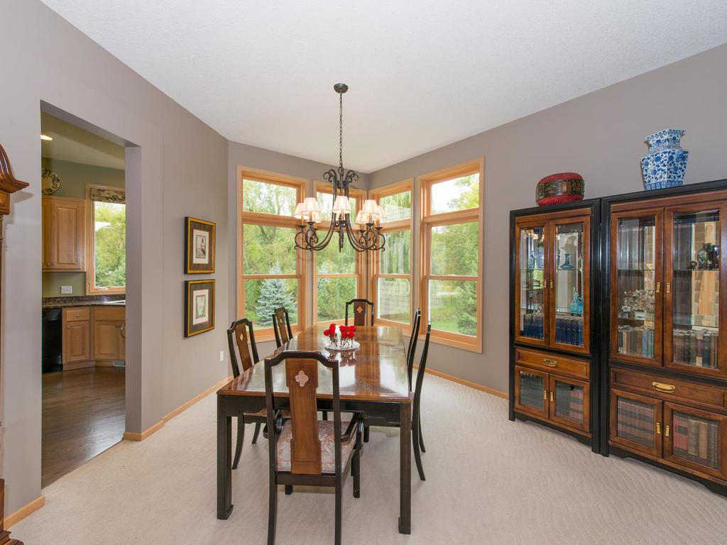 The 16x15 Formal Dining Room has great natural lighting and leads into the gourmet Kitchen.