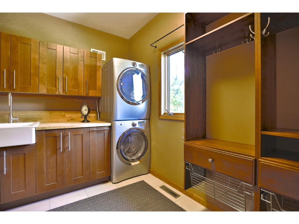 The Mud Room is just off the garage.