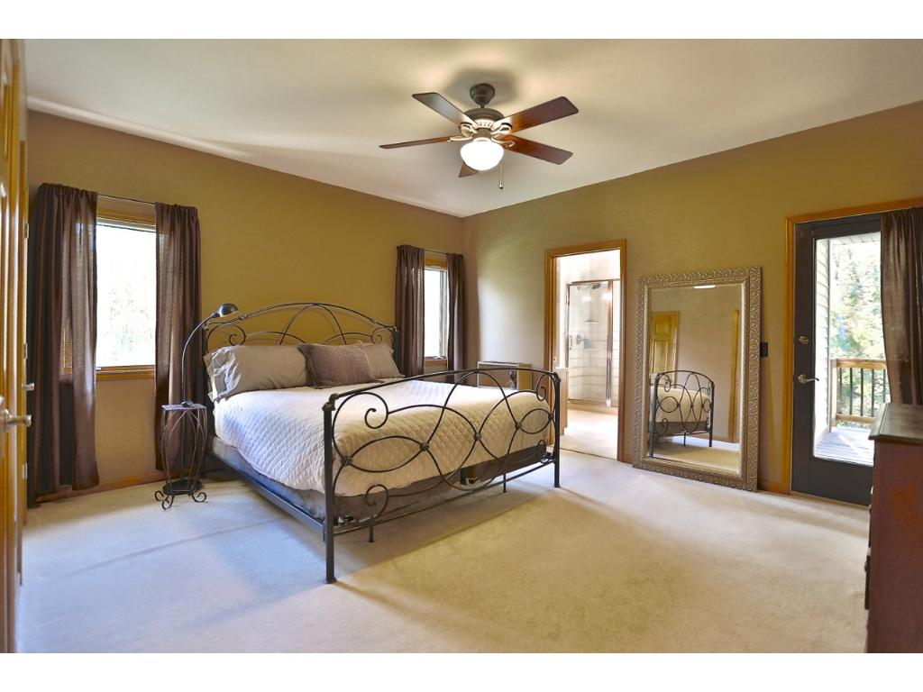 A Huge Master Suite that walks out to the deck.