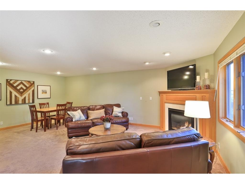 Curl up and watch your favorite movie or the big game.  Great space for entertaining or hanging with your family.