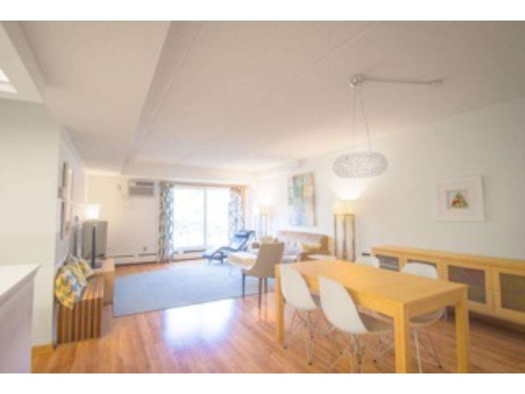 Units don't last in this complex. Very desirable area! Laminate floors in living and dining area. Lots of natural light.