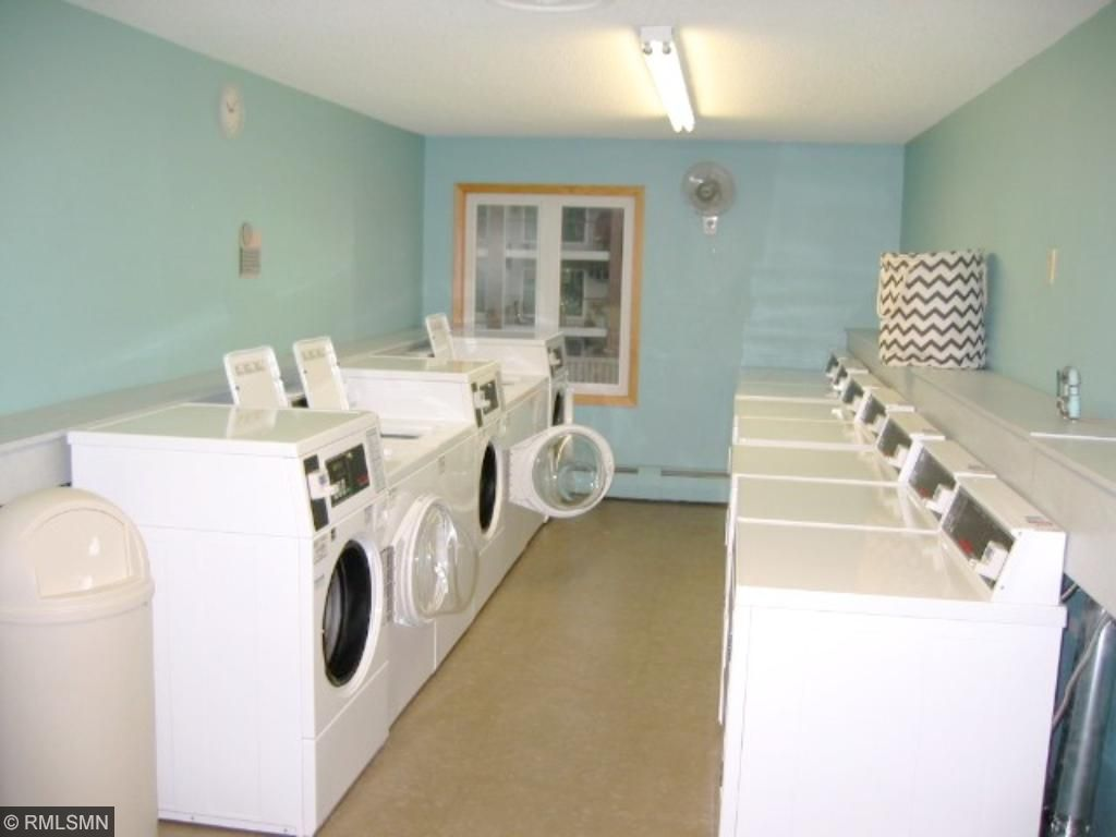Laundry rooms are on several floors and each side of the complex.