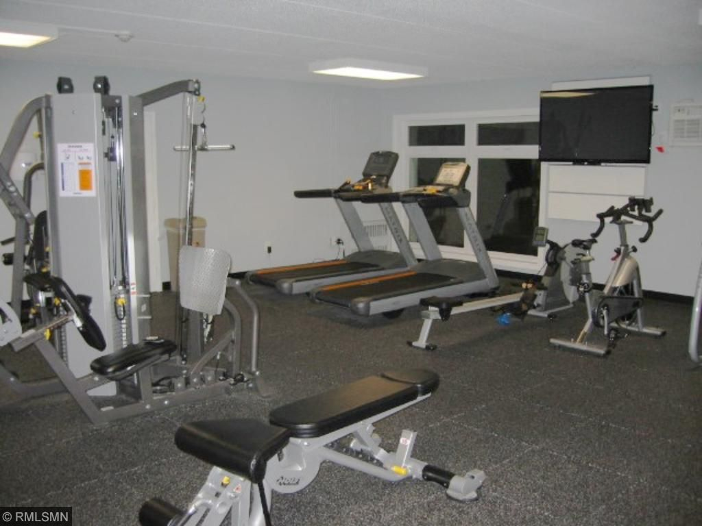 Fitness room has more equipment than nice hotels.