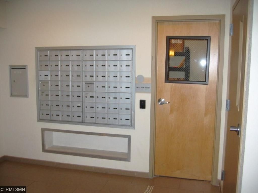 Package room and mail boxes are close to unit 209.