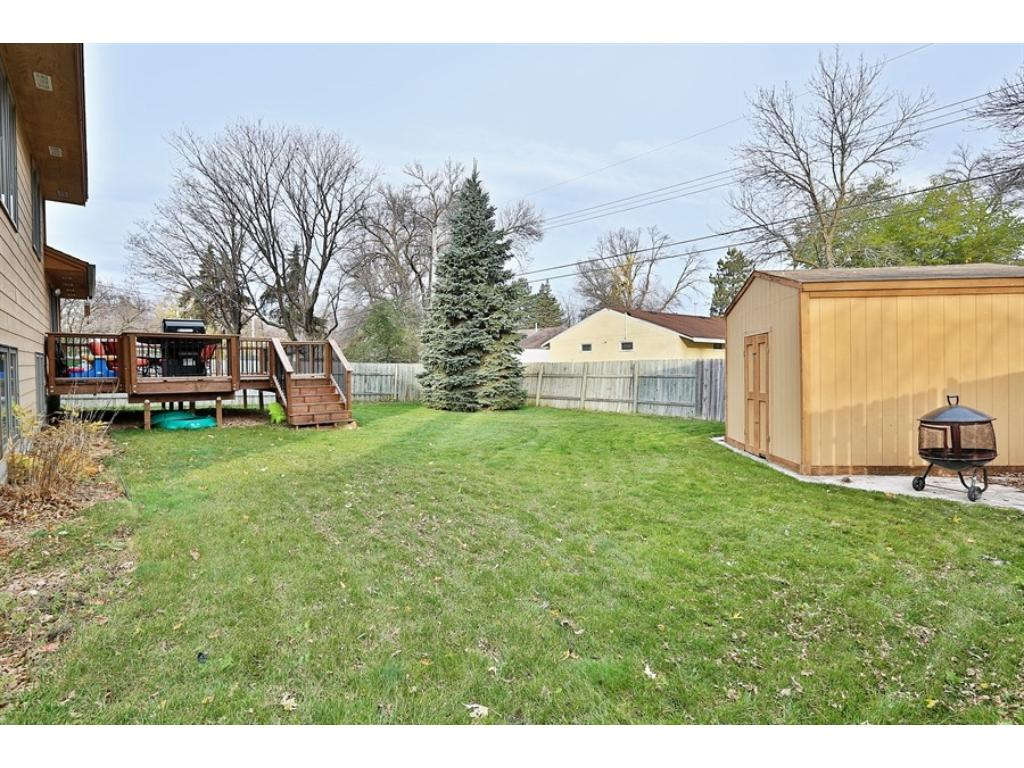 Flat backyard is perfect for kids, pets & lawn activities!