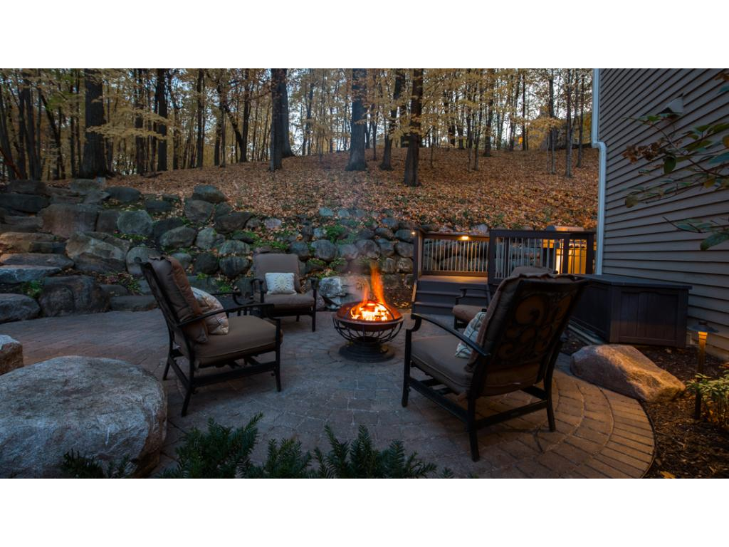 Spacious paver patio & bonfire area is just another great outdoor area for your enjoyment!