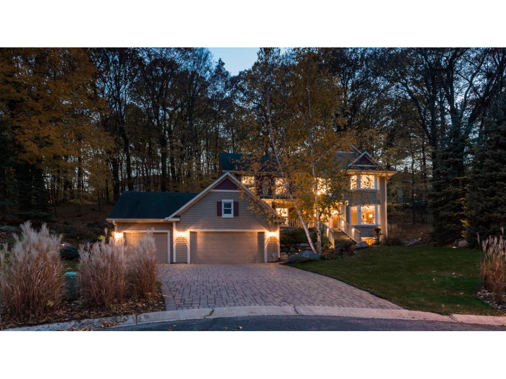 Dusk shot of the front of this beautiful home. So much attention to detail & too much great stuff to list, you must check it out! Located in close proximity to many parks & lakes including Lake Mtka & convenient access to Hwys 7 & 101.