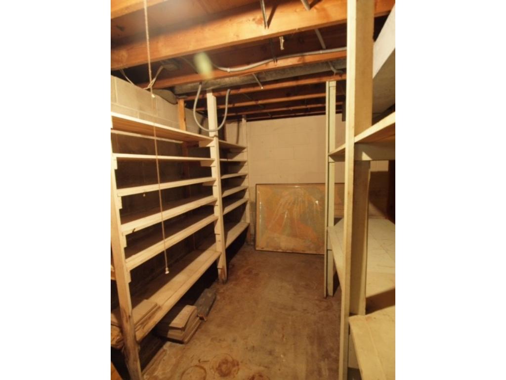 Shelved storage room