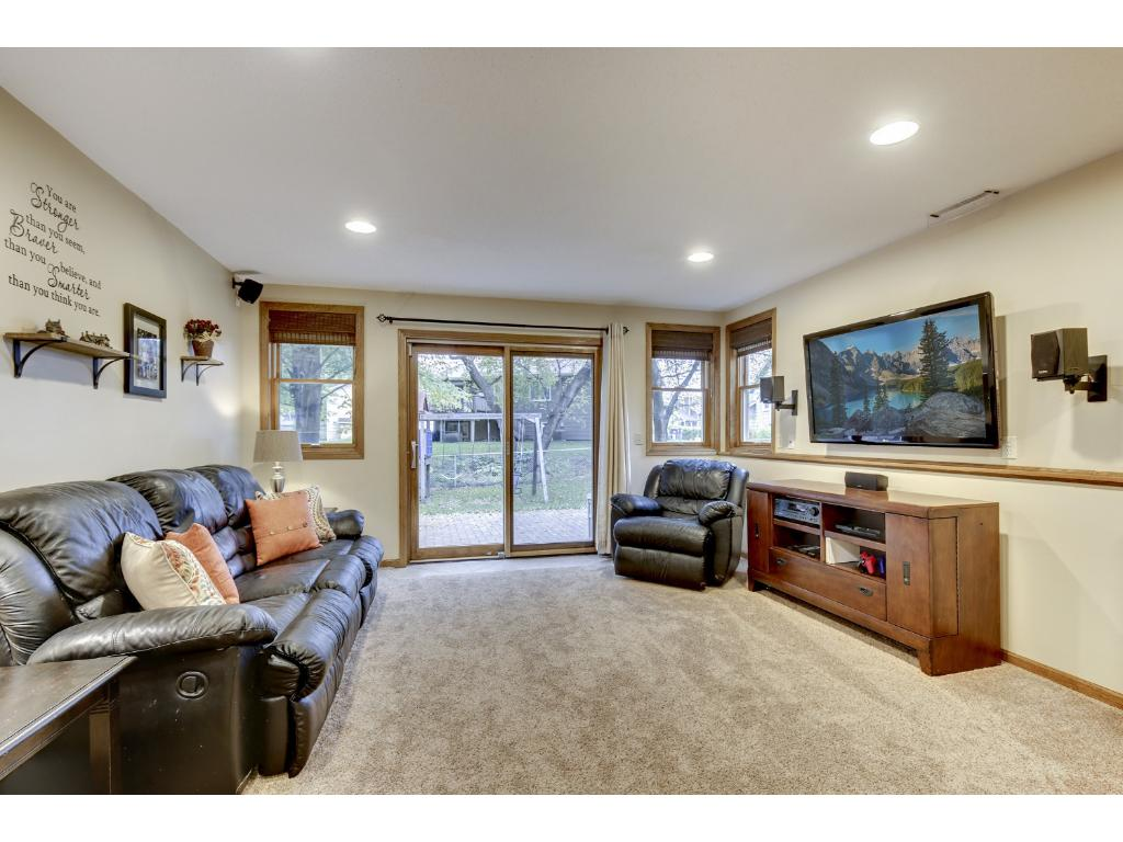 Lower level family room with new slider to the backyard!  This room has new carpet & doors!