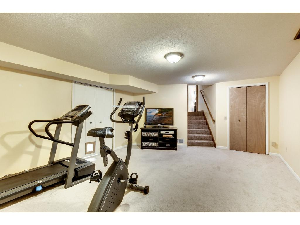 The lowest level makes a great exercise area or amusement room.
