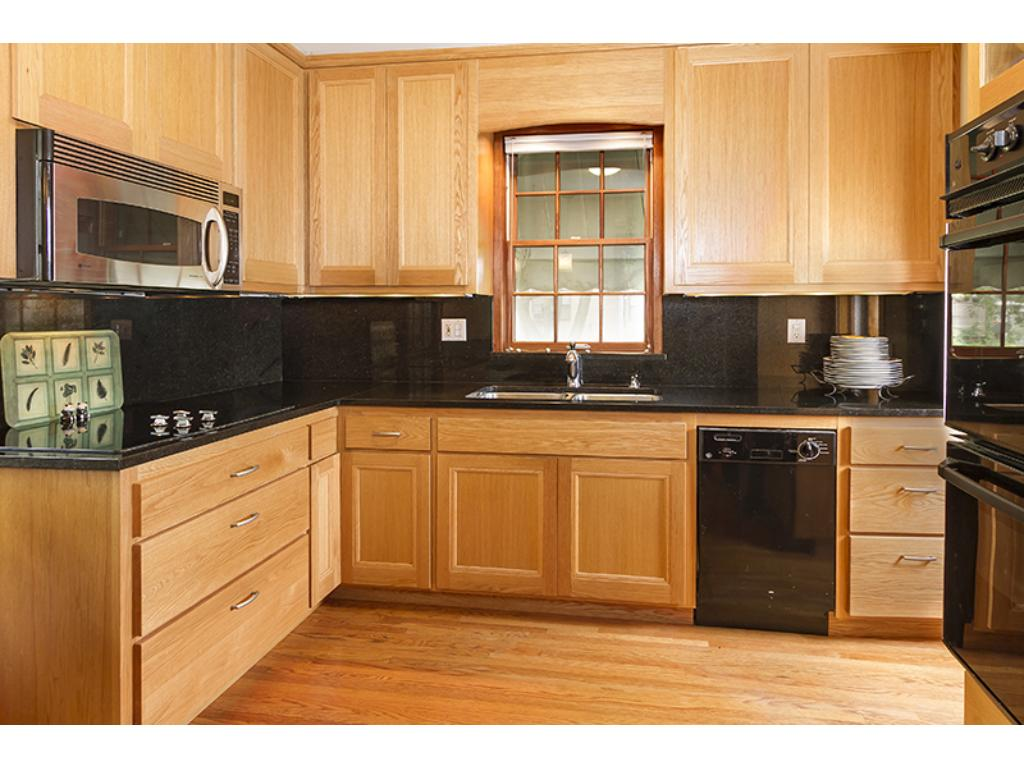 Updated kitchen with custom cabinetry