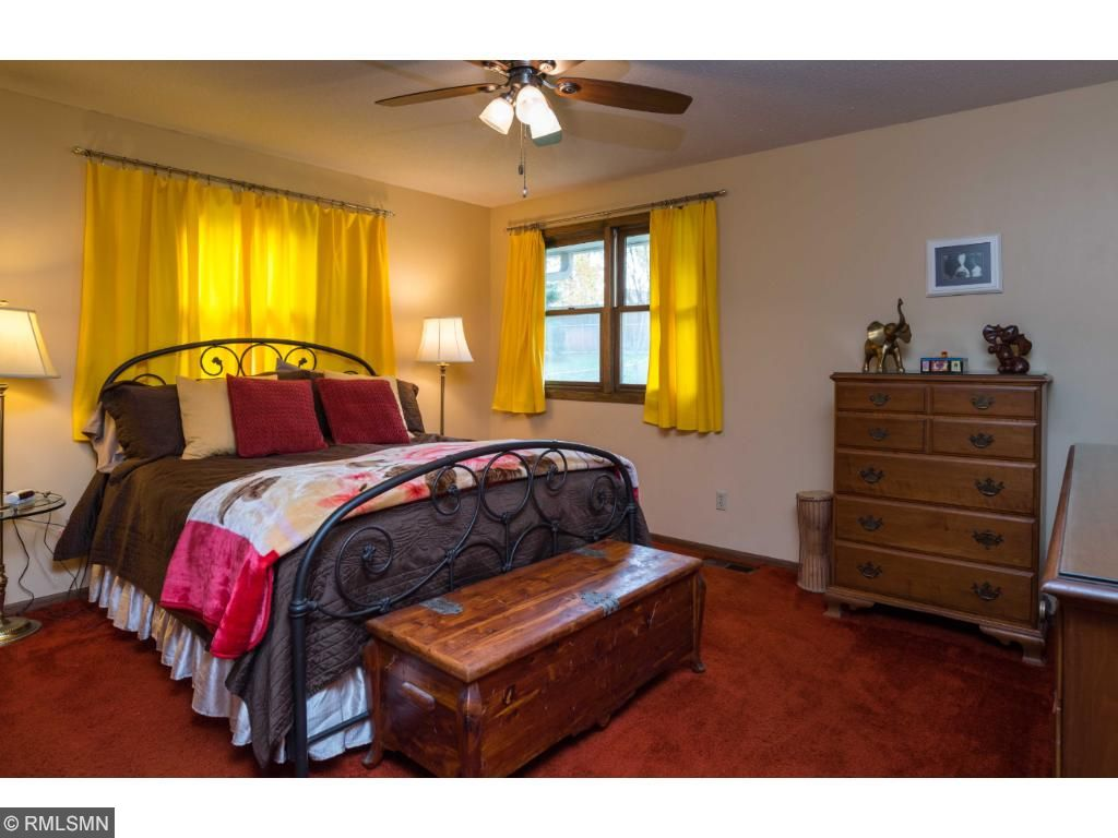 Great Master bedroom with lots of closet space.