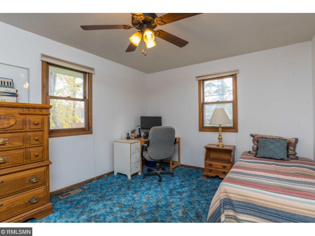 Second bedroom has plenty of floor space.