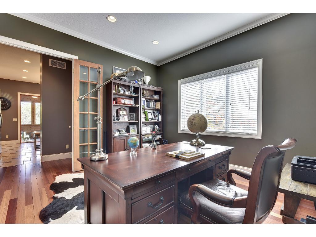 Private office with French doors