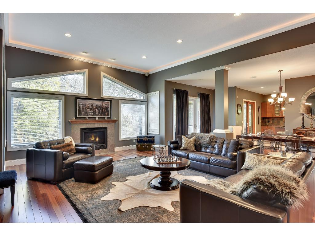 The living room flows into the dining - perfect for entertaining