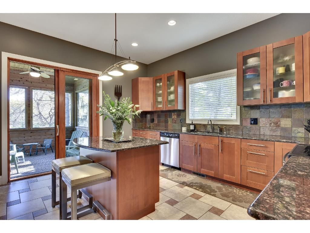 All new stainless steel appliances with plenty of storage space in your eat-in kitchen