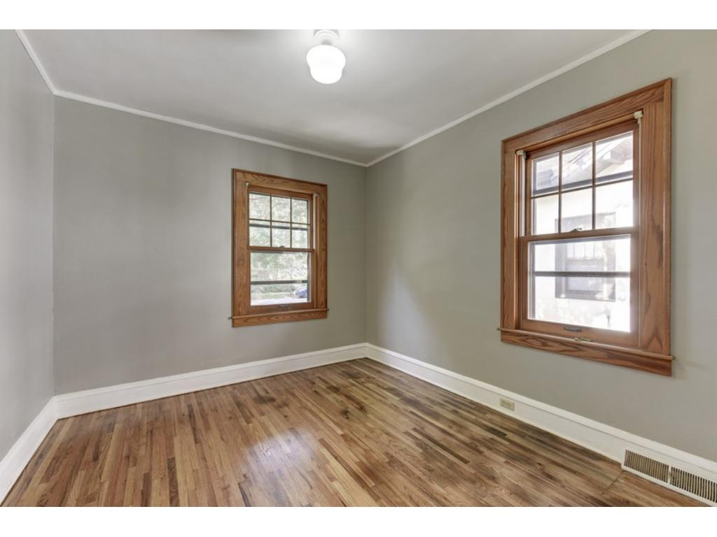 Two bedrooms on the main level with newly refinished hardwood floors!