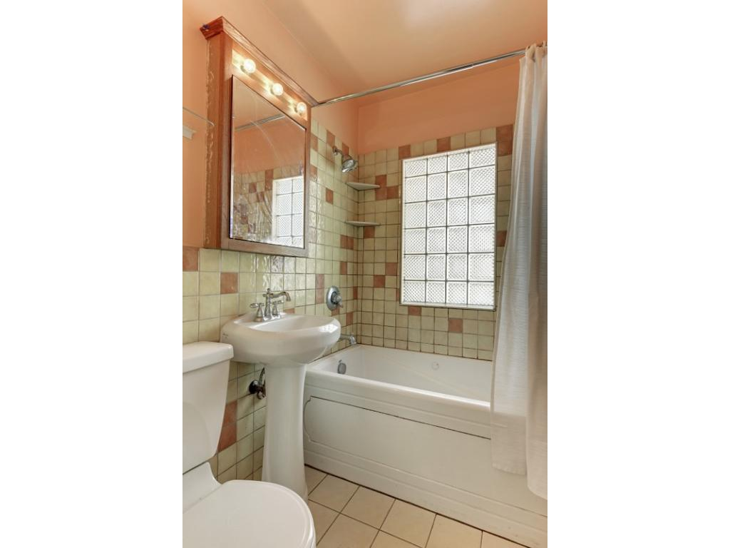 Charming updated bath on the main level, plus 3/4 bath in the lower level!