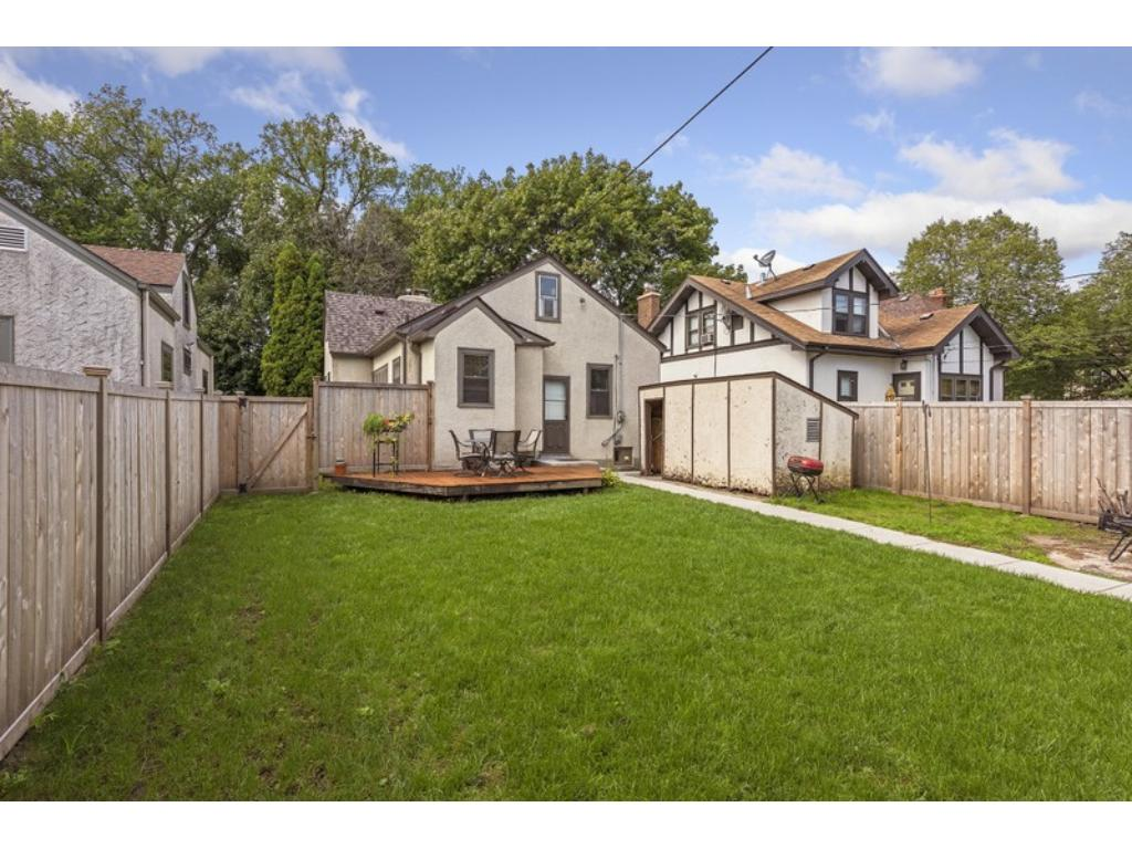 Fabulous back yard is very private with attractive, privacy fence (2015)!