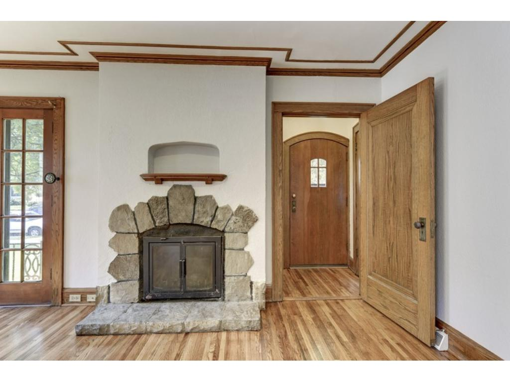 Authentic architectural details include the dramatic ceilings with intricate woodwork.  Amazing craftsmanship!