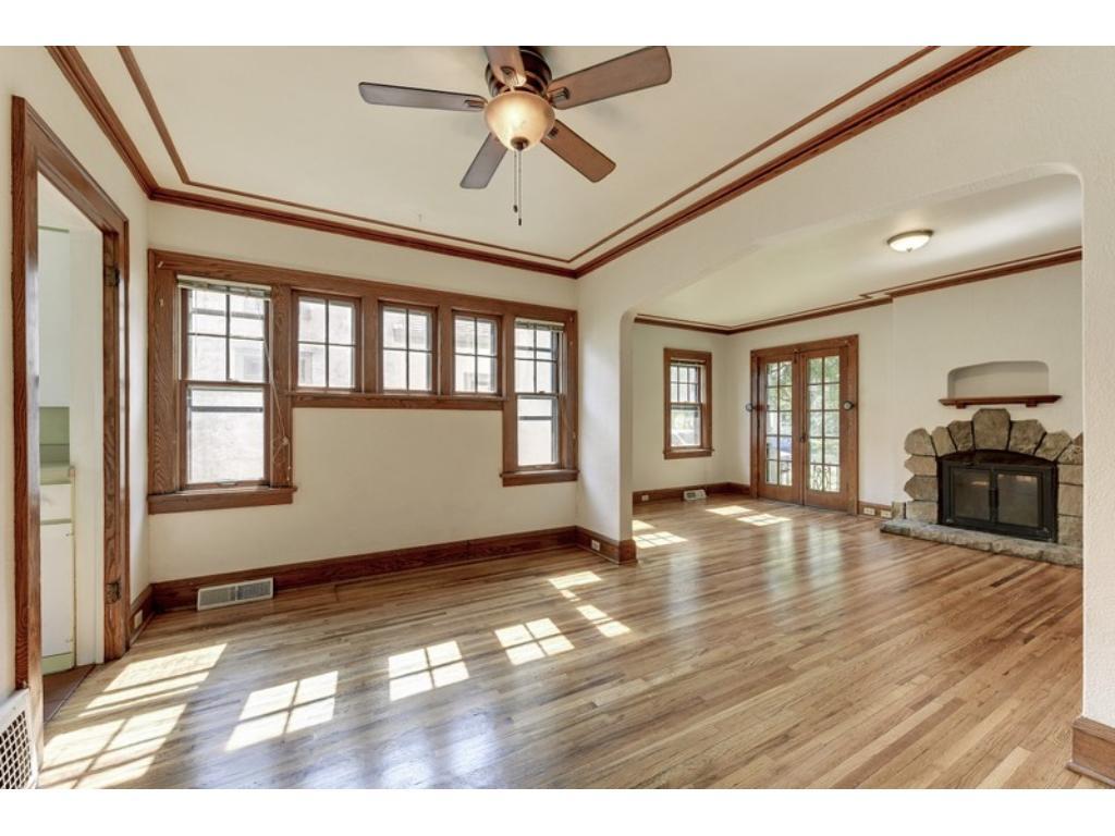 Walls charming windows make a statement & offer luminous, natural light!