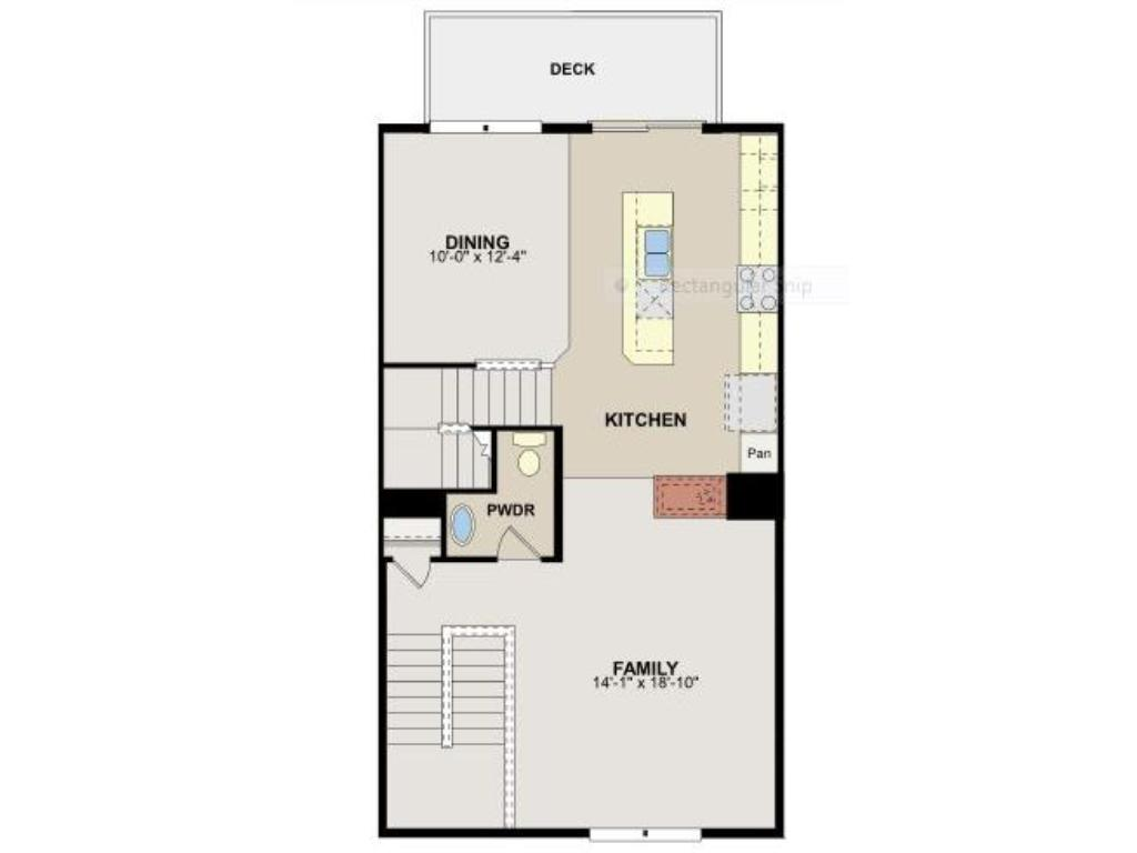 Spacious & open main level floorplan.  Family room has 5-channel surround sound speakers in the ceiling.  Gourmet-style kitchen features gas cooktop stove, double wall oven, hood vent, granite countertops, stainless steel & laminate wood floors.