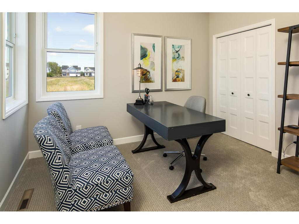 Flex room in the back of the home - great for a study, play room, or guest room.  3/4 bath directly adjacent.
